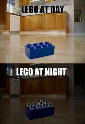 Lego at day, normal. Lego at night, painful spikes of doom.