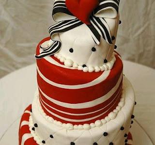 Tortas de Boda Blanco y Rojo, parte 1