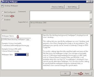 Deploy desktop wallpaper background via Group Policy