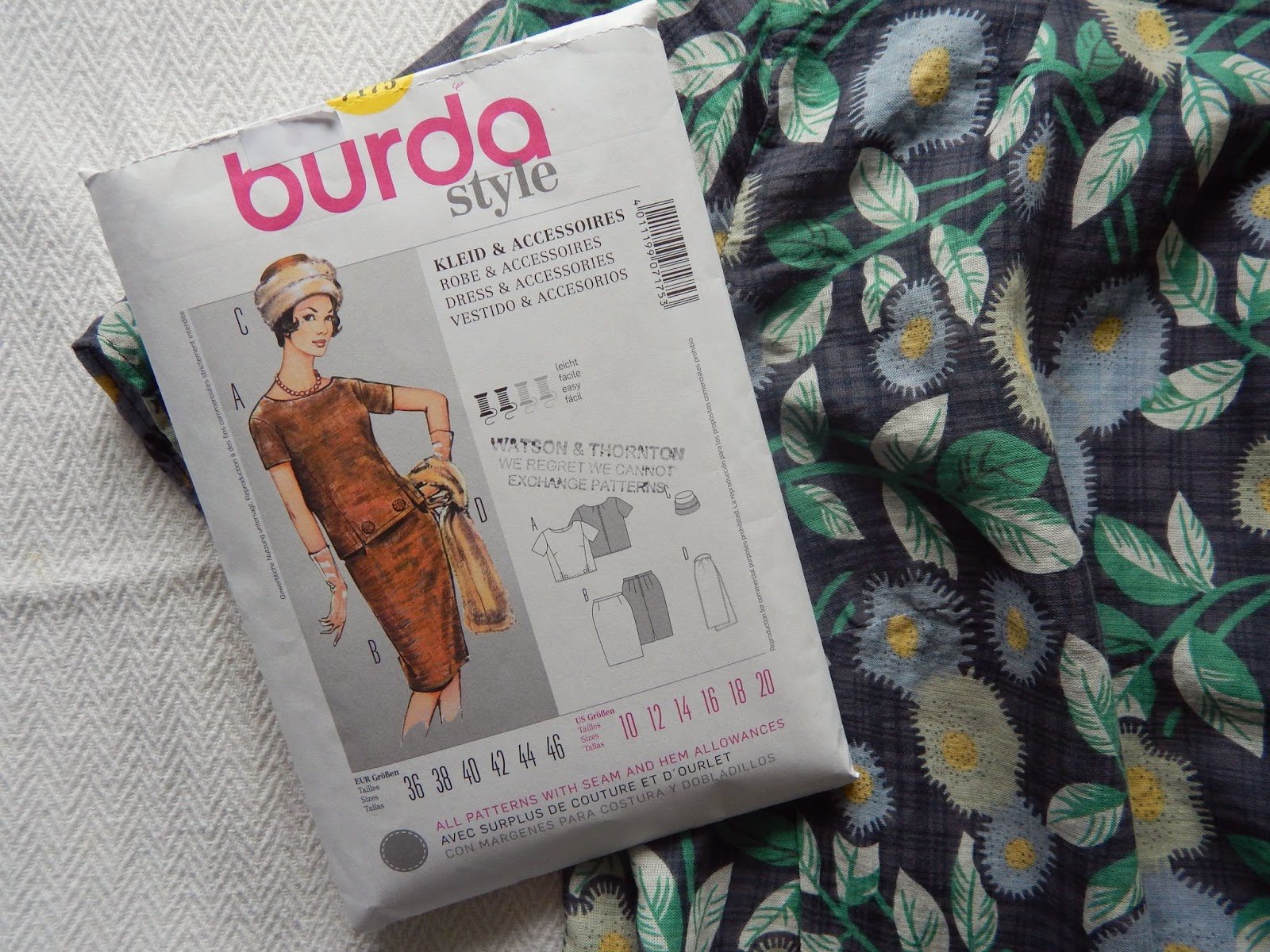 Burda 7175 Sewing Vintage