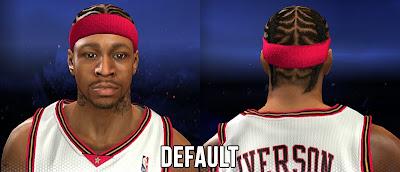 NBA 2K14 Allen Iverson Cyberface Mods