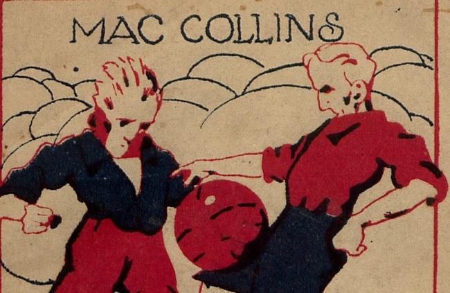 """Fragment okładki ksiażki """"Taktyka i technika piłki nożnej"""" Mac Collins 1923 r."""