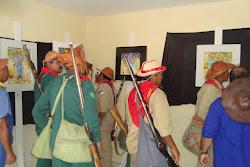 Bacamarteiros do sertão na Mostra de Pinturas Bacamarte em Pernambuco