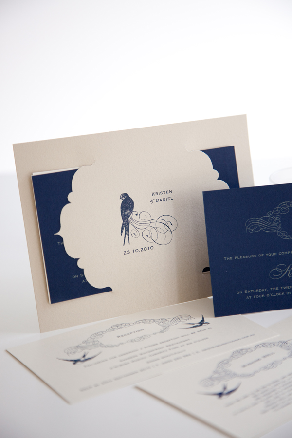 The Vintage Birds Invitation is part of the current Little Flamingo wedding