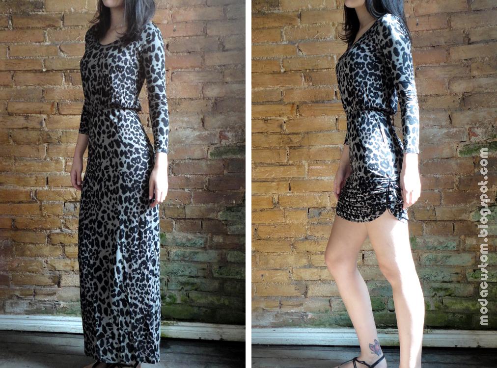 Como deixar vestido longo curto