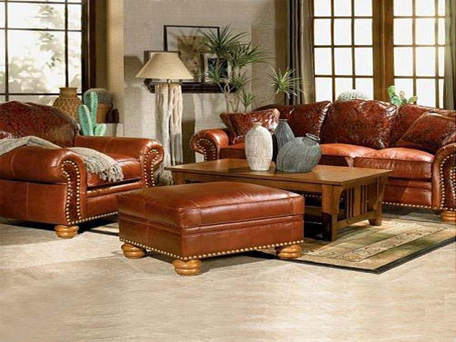 leather furniture living room decorating ideas with brown leather