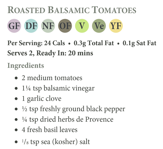 Roasted Balsamic Tomatoes Recipe Ingredients
