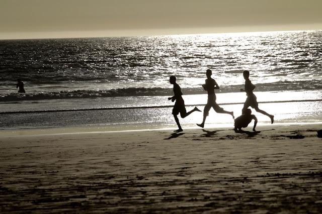 lumieres de plage, Agadir, Maroc