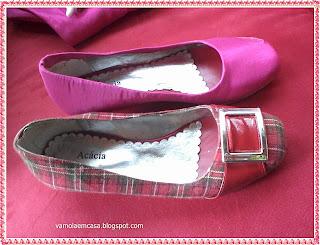 restaurar sapatos velhos encapando com tecido