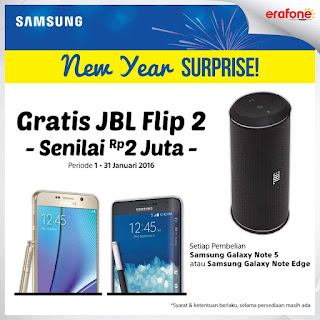 Samsung Galaxy Note Edge Bonus Speaker Portable JBL Flip 2 di Erafone