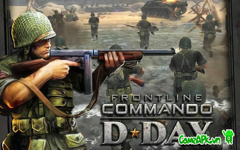 FRONTLINE COMMANDO: D-DAY v3.0.4 hack full tiền cho Android