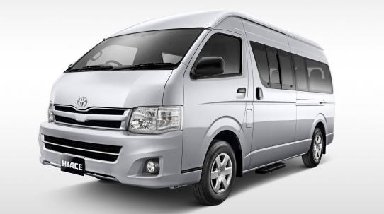 Toyota New Hiace mampu membawa 16 orang sekaligus dengan desain eksterior yang modern dan interior yang fungsional dan nyaman
