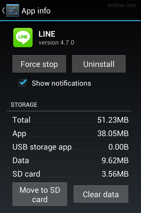 Clear data - Cara Keluar (Log Out / Sign Out) Dari Aplikasi Line - Android