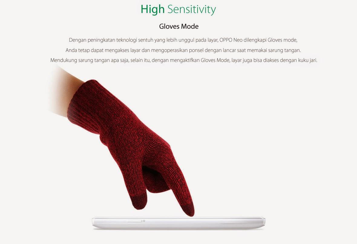 OPPO Neo Gloves mode