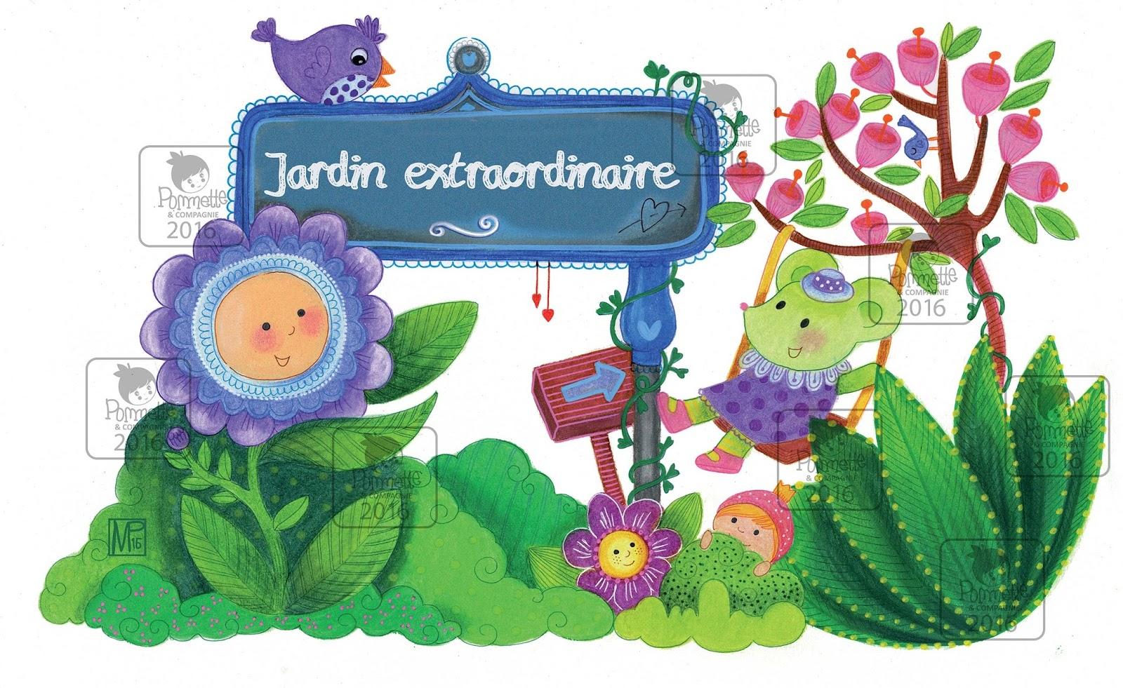 Emorine marie pierre illustratrice jeunesse grignette for Jardin extraordinaire