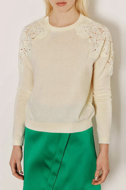 lace shoulder jumper
