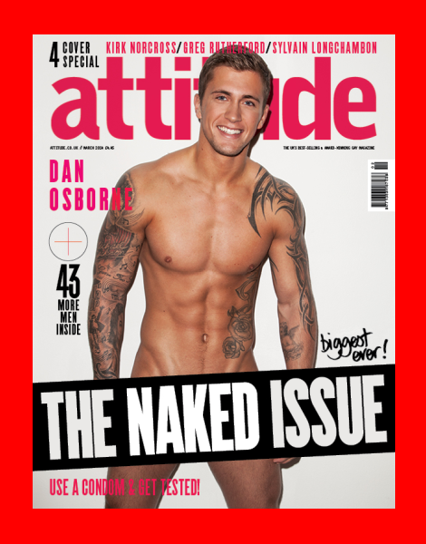 Towie's Dan Osborne naked in Attitude Magazine