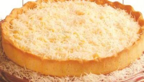 Torta de coco caseira