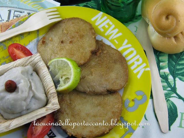 scaloppine di seitan al lime e zenzero fresco con crema di patate e spinaci