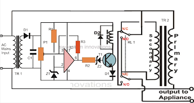 220V voltage stabilizer circuit diagram
