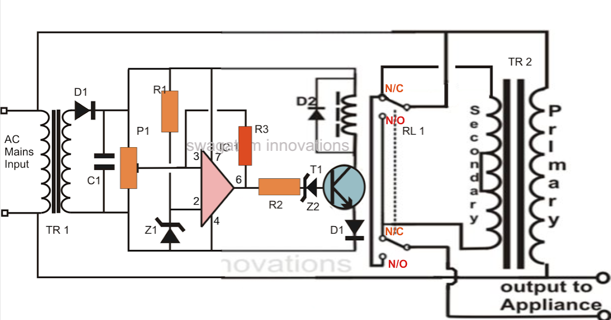 Automatic Voltage Stabilizer Circuit For Tv Sets And