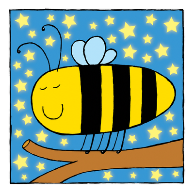 picture of sleepy bee from Sleepy Animals kindle children's picture book