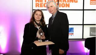 Photo de la remise du Jodi Award à l'Association Valentin Haüy pour le projet Éole