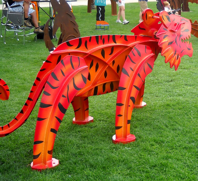 Kinetic sculpture of a tiger by Fredrick Prescott