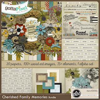 Digital Scrapbooking Page Kit