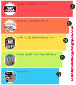 Cara pasang widget popular post berwarna warni