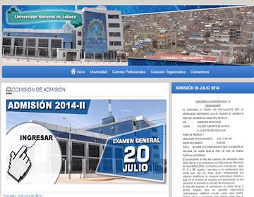 Resultados prueba admision UNAJ 2014 II