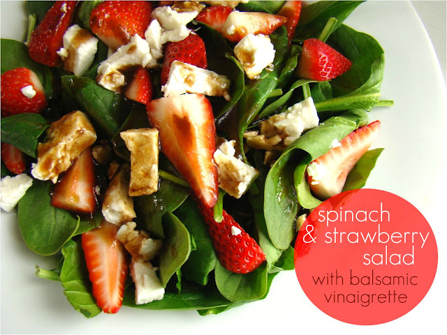 Family Feedbag: Spinach & strawberry salad with balsamic vinaigrette