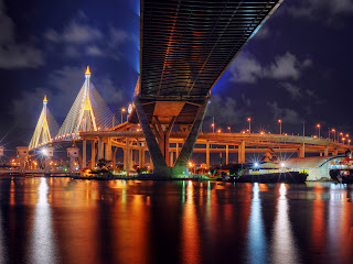 Bangkok Bridge Architecture HD Wallpaper