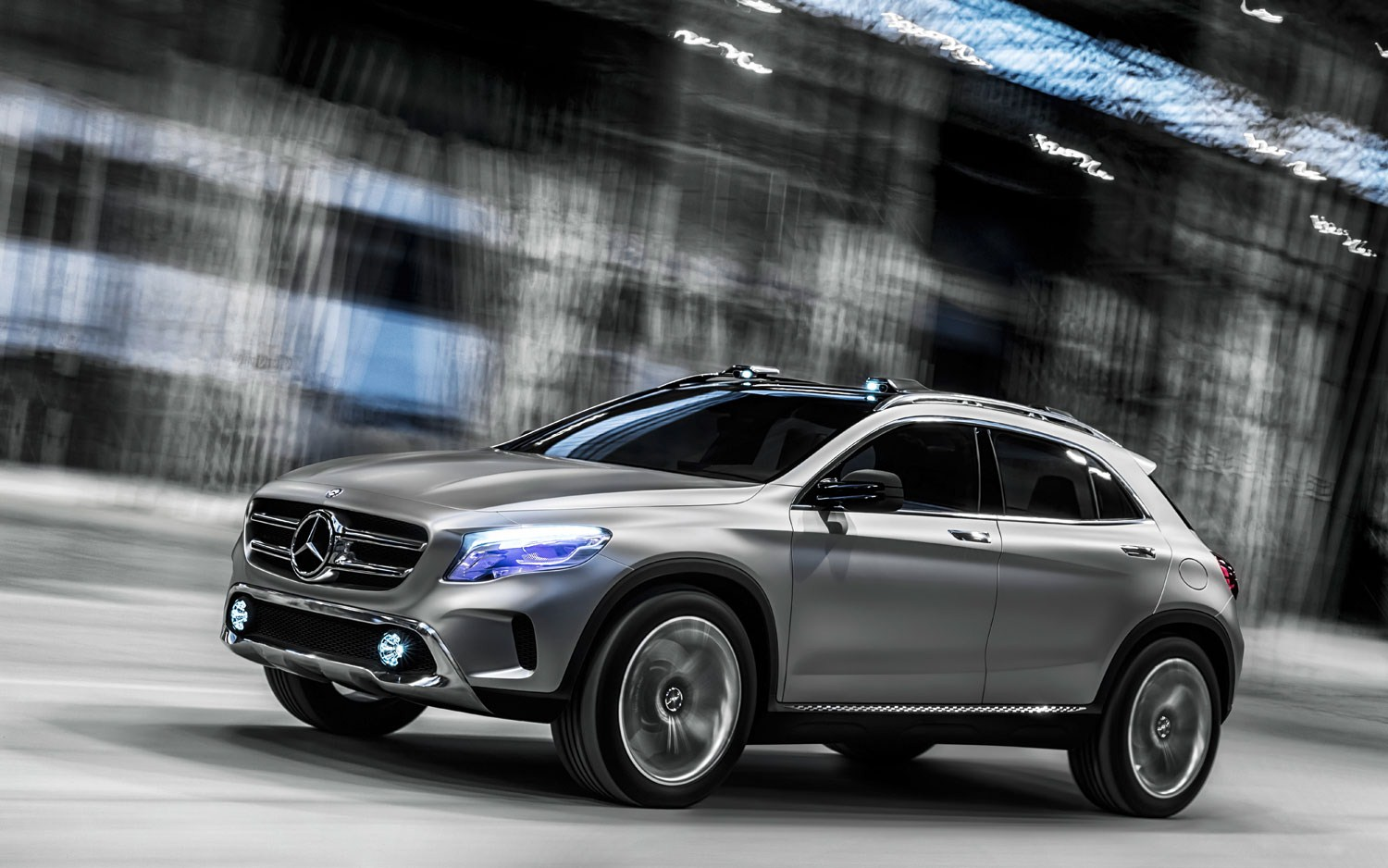 2015 mercedes benz gla class spy shots. Black Bedroom Furniture Sets. Home Design Ideas