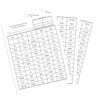 ... for the Sight Word Teacher Recording Sheets to go with the PowerPoint: http://mrsgilchristsclass.blogspot.com/2012/04/sight-words-powerpoint-freebie.html