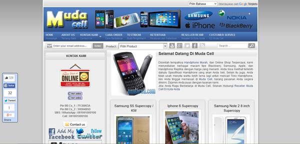Mudacell.com Toko Online Handphone Terpercaya
