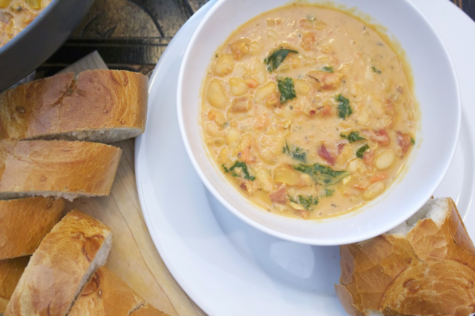 Thyme In Our Kitchen: Tuscan White Bean Soup