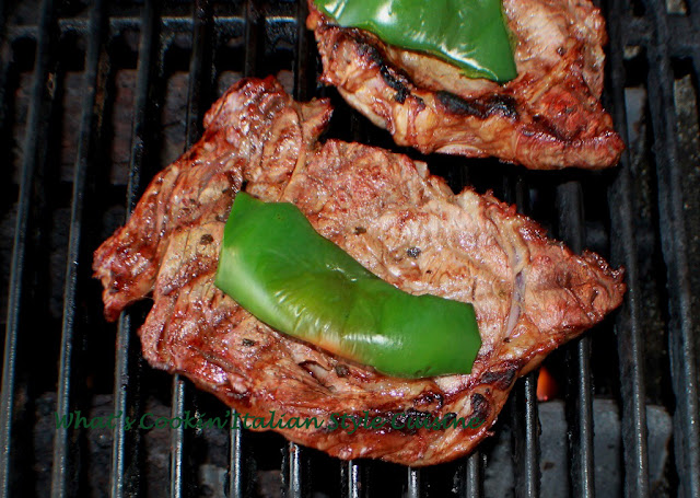 Spicy Grilled Pepper Steak Recipe | What's Cookin' Italian ...