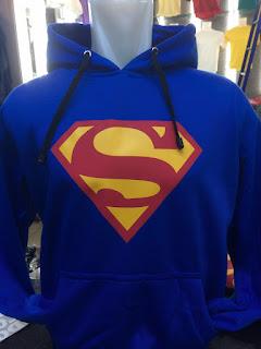 gambar desain terbaru jaket superman dari masa ke masa gambar photo foto Jaket hoodie Superman warna biru terbaru di enkosa sport