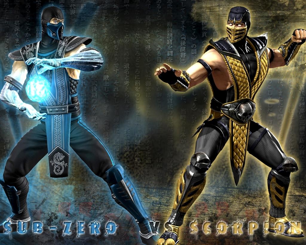 Background image vs img - Mortal Kombat Sub Zero Vs Scorpion Wallpaper Background Midway Fighting Game Img Image Picture Pic