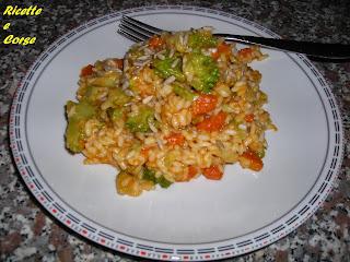 risotto con zucca broccoli verdi e una spolverata di semi di girasole