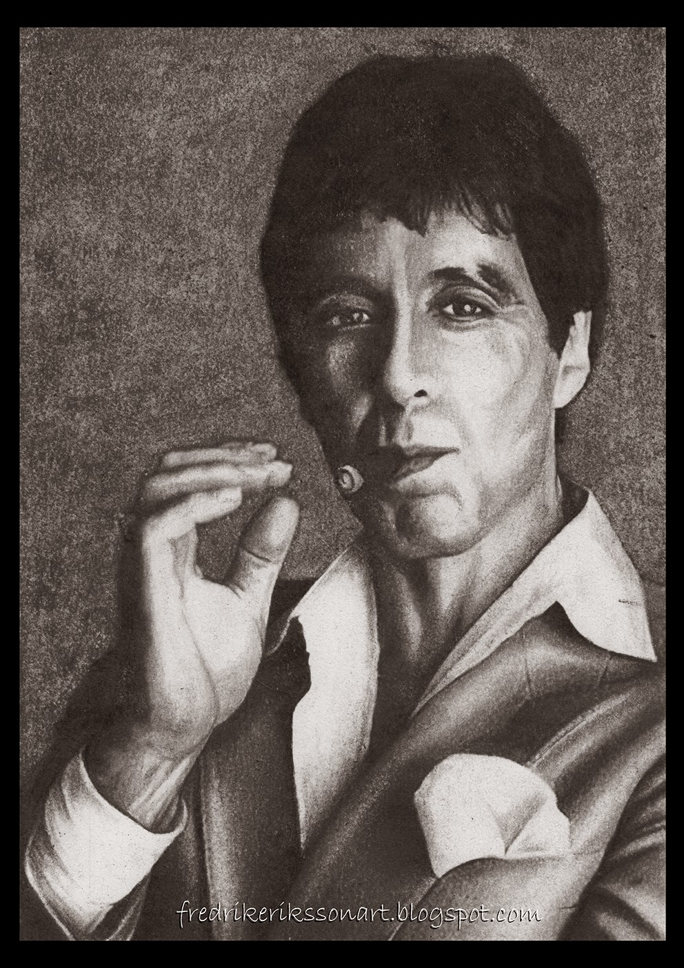 Art of fredrik eriksson for Occhiali al pacino scarface