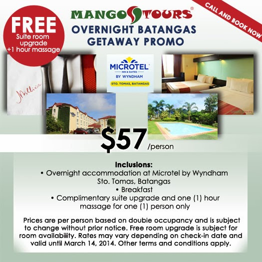 Mango Tours Batangas Getaway package