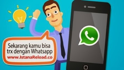 Cara Transaksi via WhatsApp Istana Reload Agen Pulsa Online Termurah