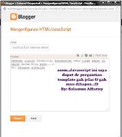 Cara Menghapus JavaScript Blog Yang Terkunci