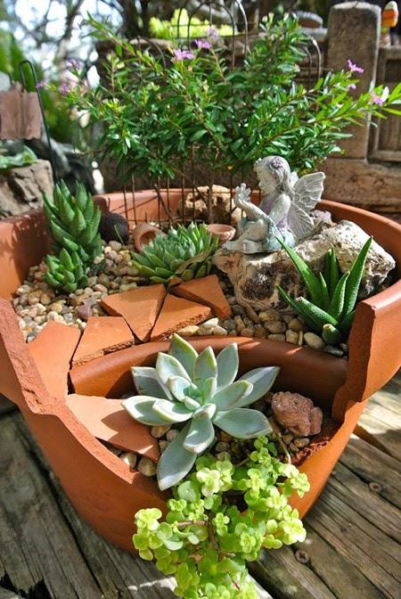 plant the tree in the broken vase | Outdoor Furniture in Vietnam