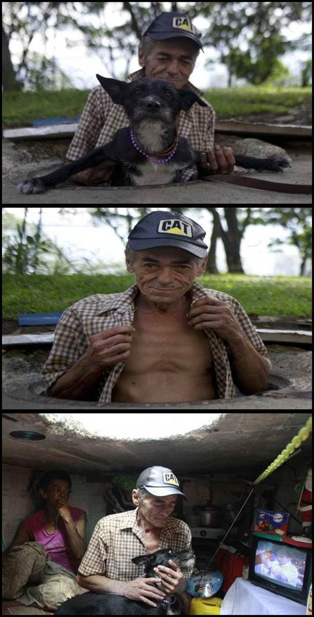 suami isteri tinggal dalam pembetung di colombia