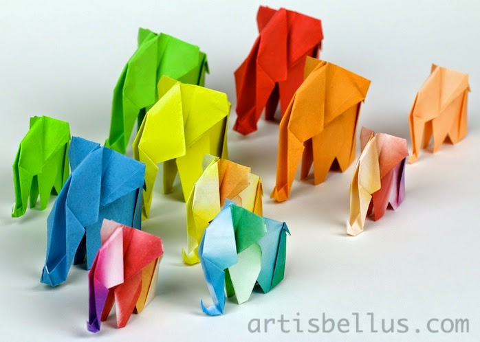 Elephants for the ZSL Whipsnade Zoo - Origami Elephant World Record Attempt
