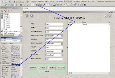 cara menampilkan data tabel di form delphi