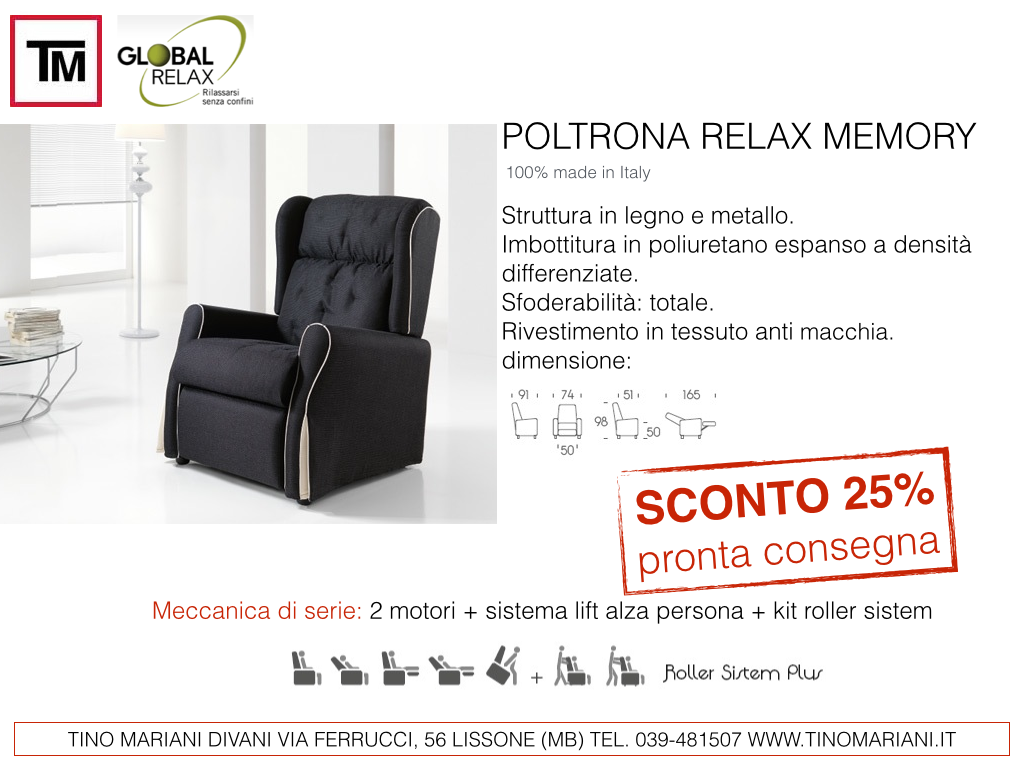 Offerte poltrone relax | Tino Mariani